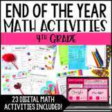 4th Grade End of the Year Math Activities with Google Slides™ Digital Activities