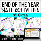 End of Year Math Activities | 5th Grade End of the Year Math