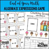 End of Year Math Algebraic Expressions Game