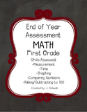 End of Year Math Assessment: First Grade