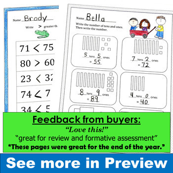 End of Year Math CCSS First Grade Just Print It (Common Core)