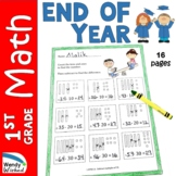 End of Year Math Worksheets for First Grade