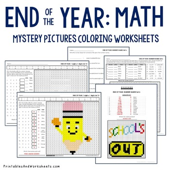 End of the Year, Math Activities for End of the Year Math Review