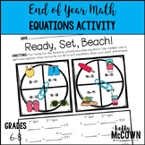 End of Year Math Equations Activity