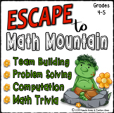 End of Year Math Escape:Computation, Problem Solving, PEMDAS, Crack the Code 4-5