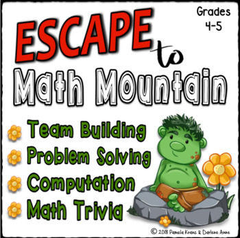 Escape Room Back to School Math : Computation, Problem Solving, Crack the Code