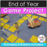 End of Year Math Game Board Project