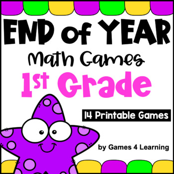 End of Year Math Games First Grade: End of the Year Activities or Summer Packet