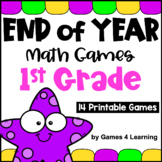 End of the Year Math Games for First Grade: Summer Packet Activities