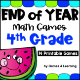 End of the Year Math Games for Fourth Grade: Summer Packet Activities