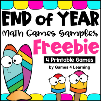 End of Year Free: Math Games for End of the Year Activities
