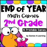 End of the Year Math Games Second Grade: Summer Packet Activities