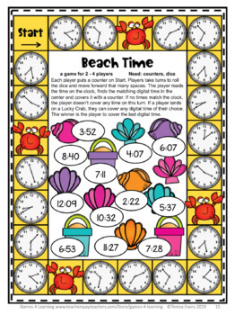 End of the Year Activities: Math Games for Third Grade: Summer Packet