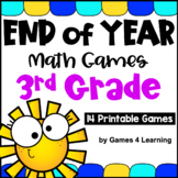 Fun End of the Year Activities: Math Games for Third Grade: Summer Packet