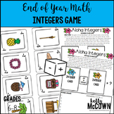 End of Year Math Integers Game