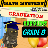 End of Year Math Mystery Activity: Graduation Gremlins (8th Grade Math Review)