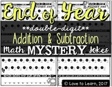 End of Year Math Mystery Jokes **Double-Digit Addition & S