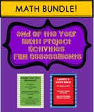 End of The Year Math Project Activities Bundle - Fun Assessments