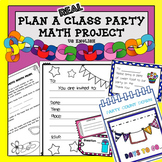 End of Year Math Project Plan a Party Project Based Learning US