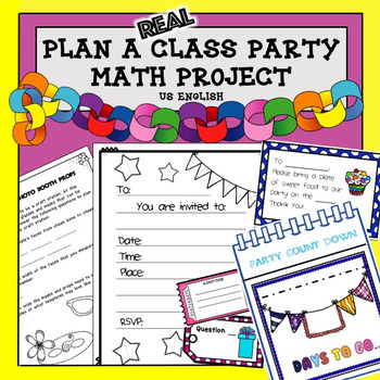 Math Project Plan a Party Project Based Learning US