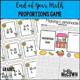 End of Year Math Proportions Game