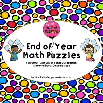 End of Year Math Puzzles
