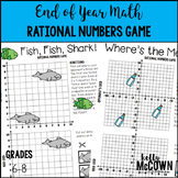 End of Year Math Rational Numbers Game