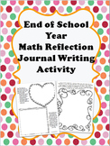 """End of Year Math Reflection Journal Writing """"What Have I L"""