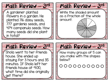End of Year Math Review Grade 3