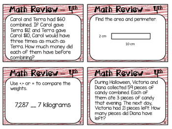 End of Year Math Review Grade 4