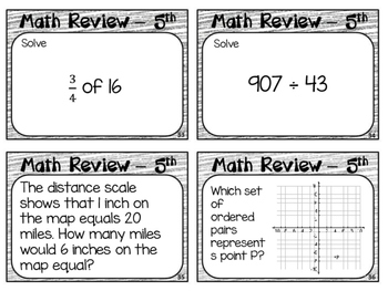 End of Year Math Review Grade 5