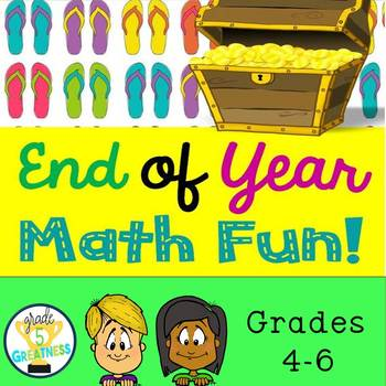 End of Year Fifth Grade Math Review Bundle