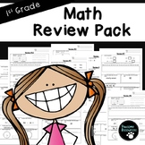 End of Year Math Review (First Grade, 12 EDITABLE pages)
