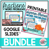 Fraction Word Problems Task Cards