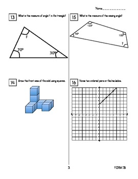 End of Year Math Review: Jumbo Packet