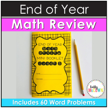 End of Year Math Review Mini Booklet {Grade 5}