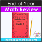 End of Year Math Review 6th Grade Booklet