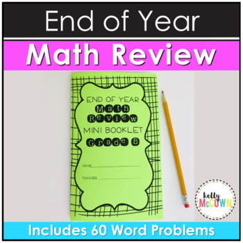 End of Year Math Review Mini Booklet {Grade 8}