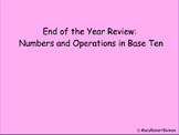 End of Year Math Review - NBT