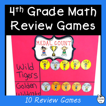 End of The Year Math Review Olympic Games ~ 4th Grade