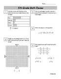 End of Year Math Review Packets #3