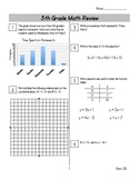 End of Year Math Review Packets #5