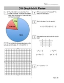 End of Year Math Review Packets #7