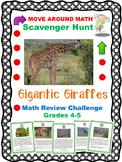 Math Review Scavenger Hunt Grades 4-6 Giraffes