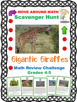 Math Review Scavenger Hunt Grades 4 5 6 Giraffes