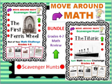 End of Year Math Review Scavenger Hunt Bundle