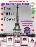 Math Review The Eiffel Tower Scavenger Hunt Grades 4-6