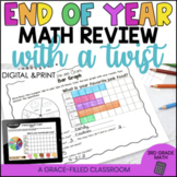 3rd Grade End of Year Math Review | 3rd Grade Math Review DIGITAL and Print
