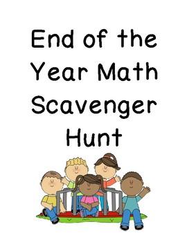 End of Year Math Scavenger Hunt