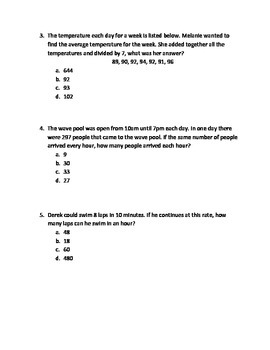 Summer Math Activity Multiplication and Division Word Problems: Mystery Joke